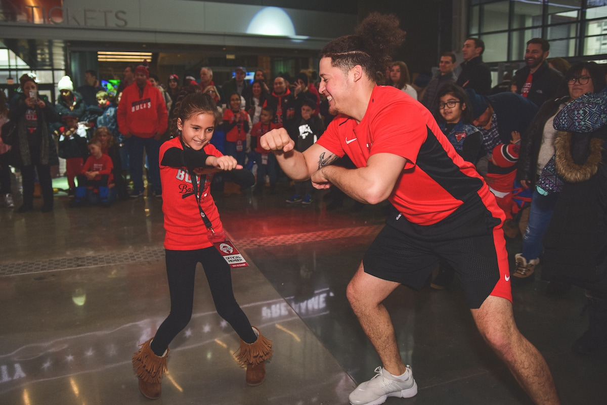 Bulls Host First Kid Nation Pre Game Party Chicago Bulls