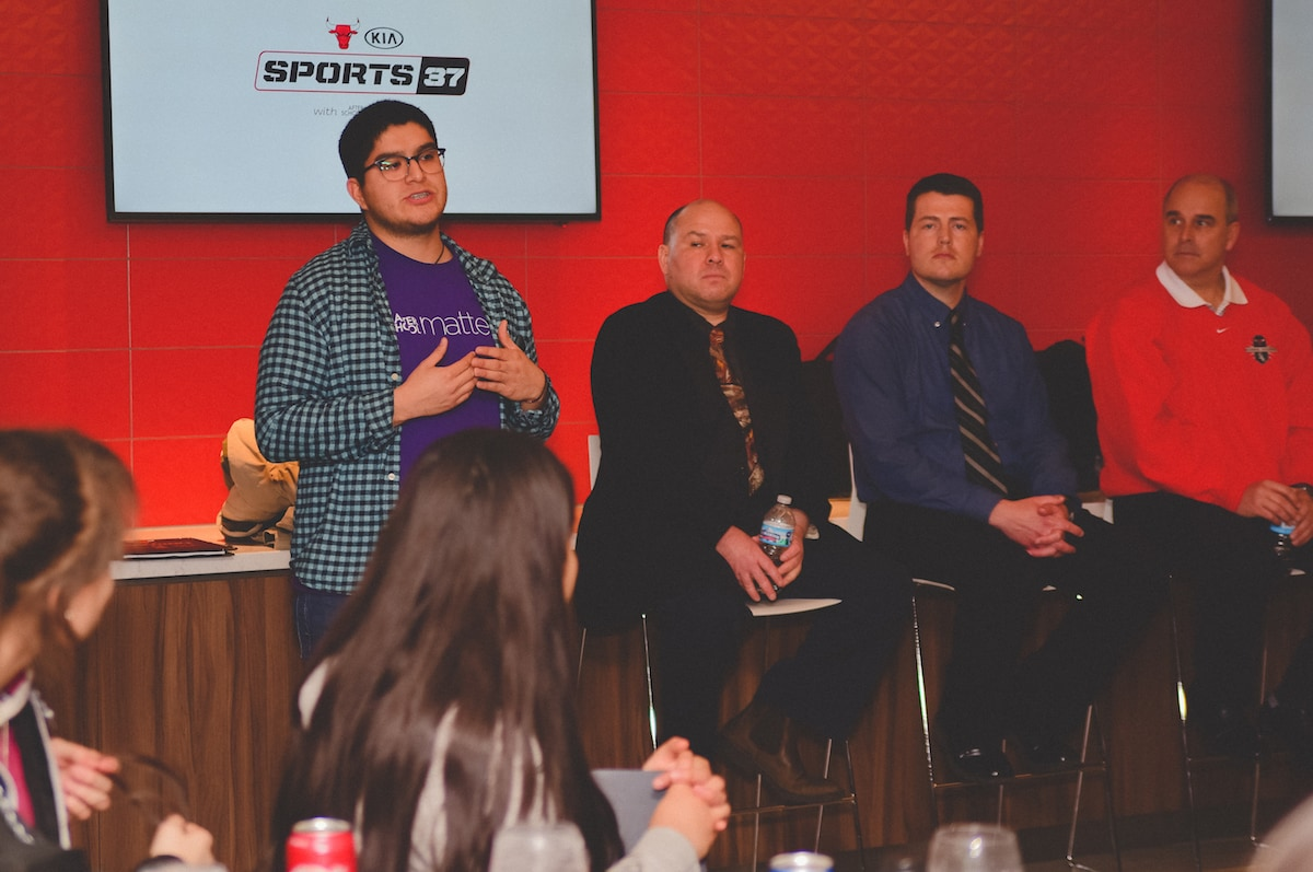 Bulls host career panel for KIA and After School Matters' Sports 37 program | Chicago Bulls ...