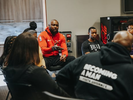 Bulls Host Youth Guidance Students for MLK Jr. Day Event