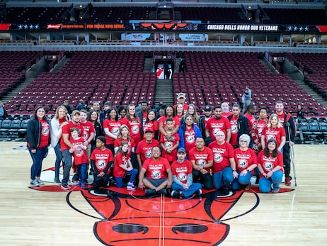 Bulls Host Families from TAPS For Veterans Day Game