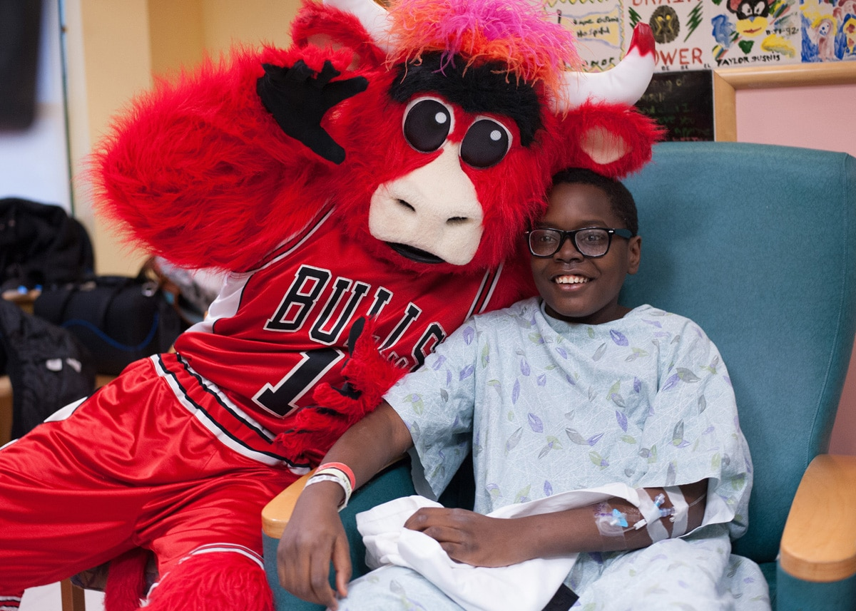 Taj and Benny visit Advocate Children's Hospital