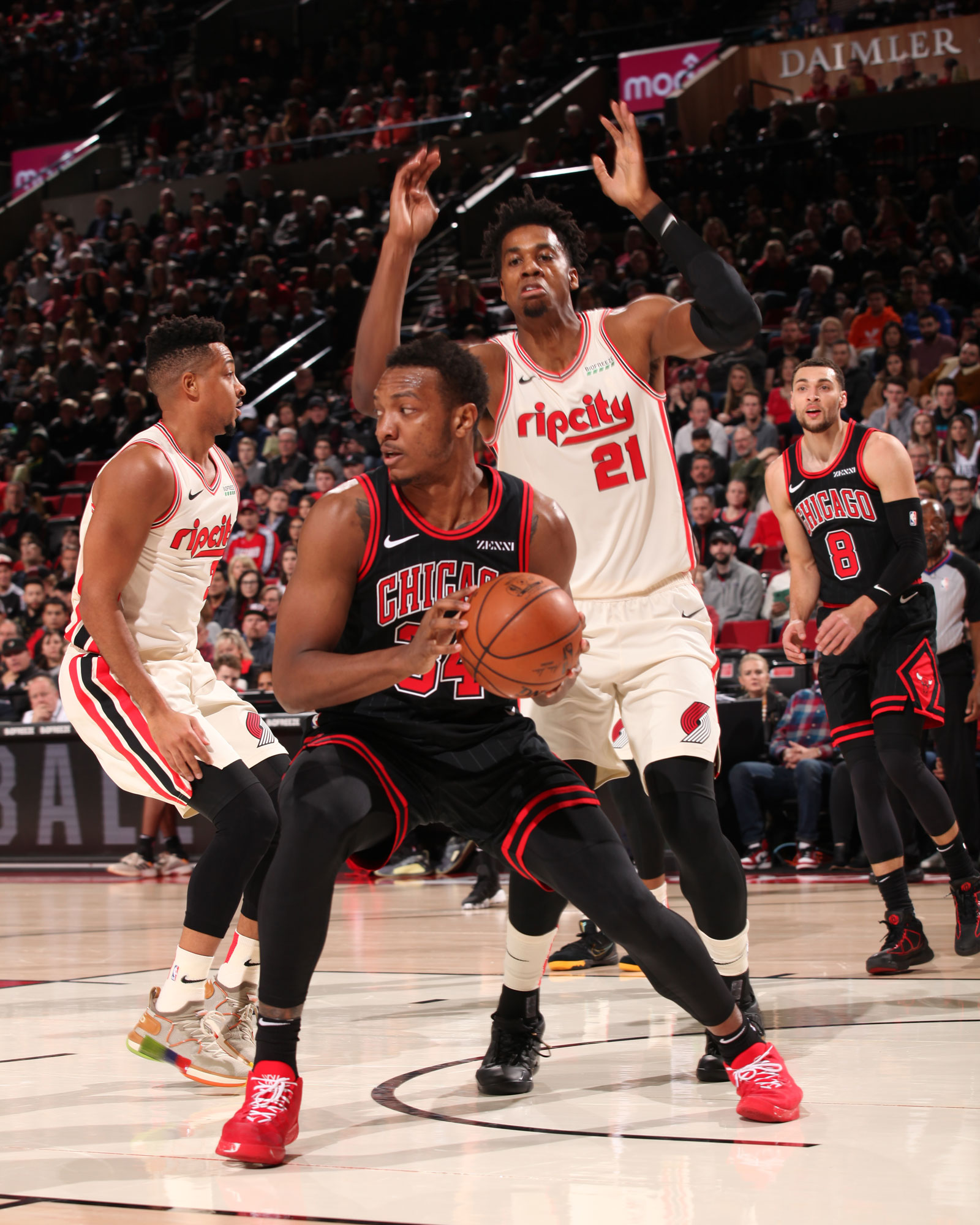 Wendell Carter Jr. against the Trail Blazers