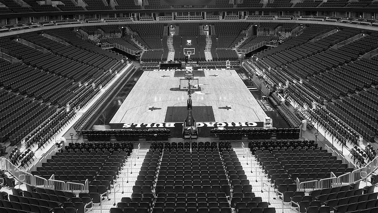 United Center court