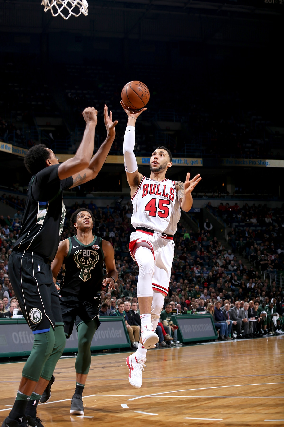 Denzel Valentine With The Floater Against The Bucks. U201c