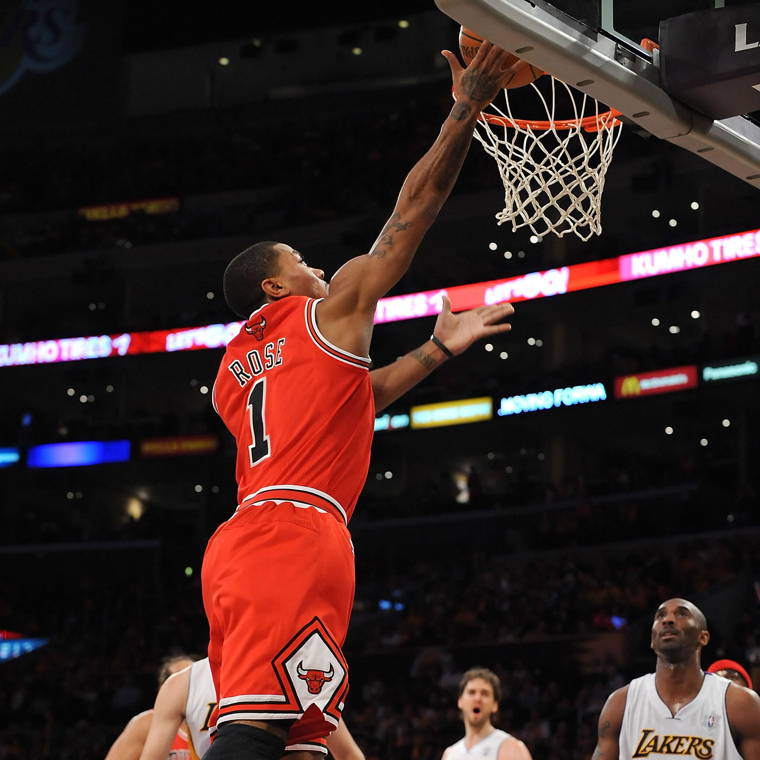 Derrick Rose against the Lakers on Christmas Day