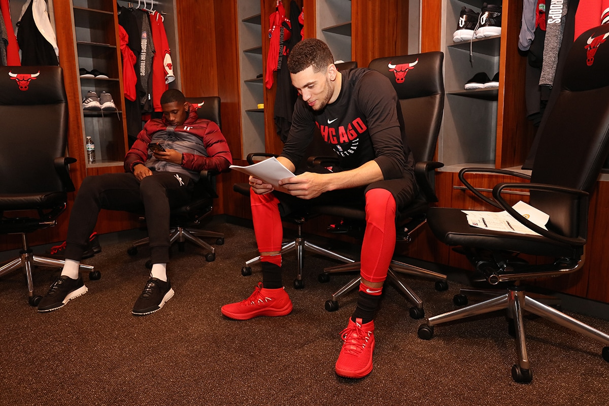 Zach LaVine & Kris Dunn in the Chicago Bulls locker room