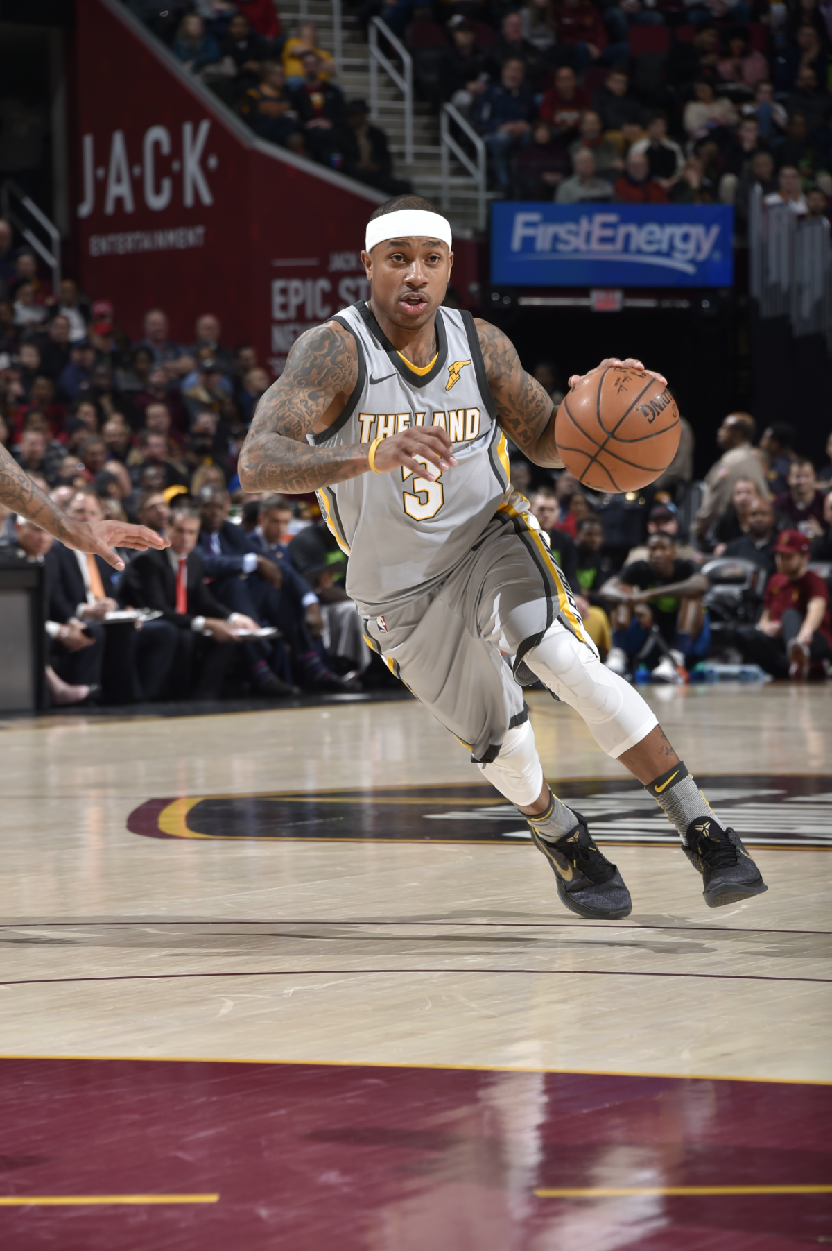Isaiah Thomas while playing for the Cleveland Cavaliers.