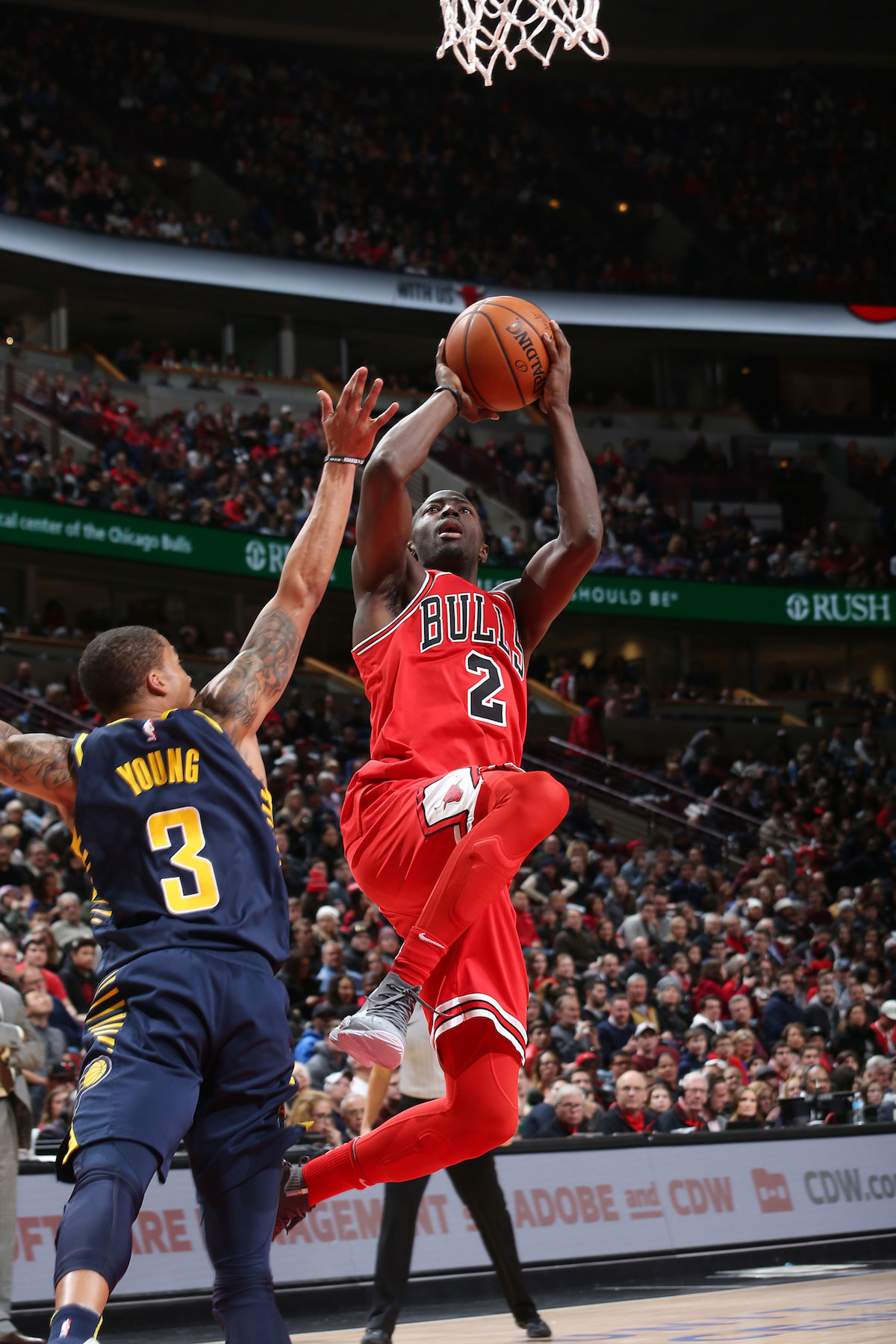 Jerian Grant #2 of the Chicago Bulls shoots the ball against the Indiana Pacers