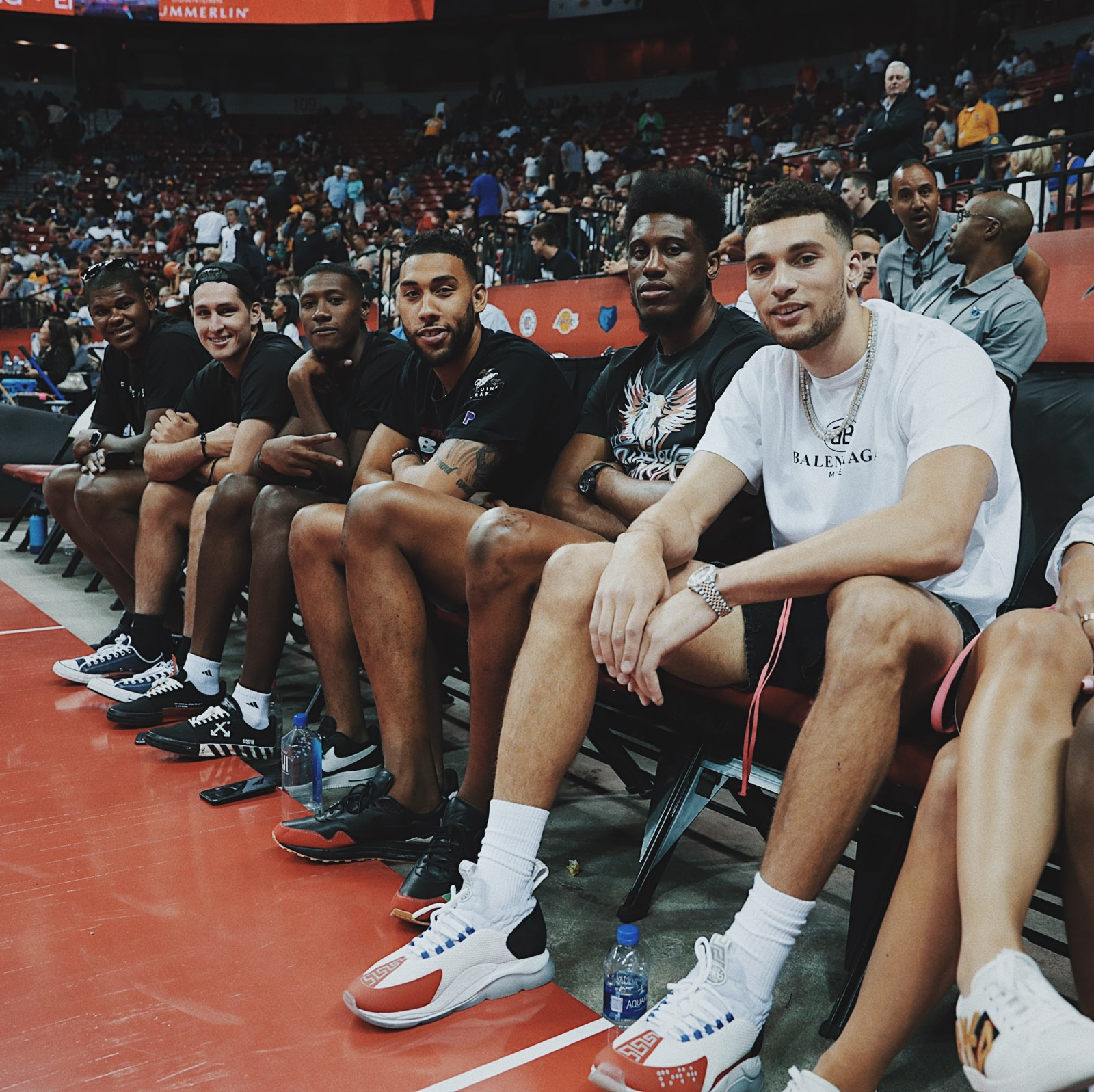 Bulls players were in Las Vegas to support the Bulls Summer League team