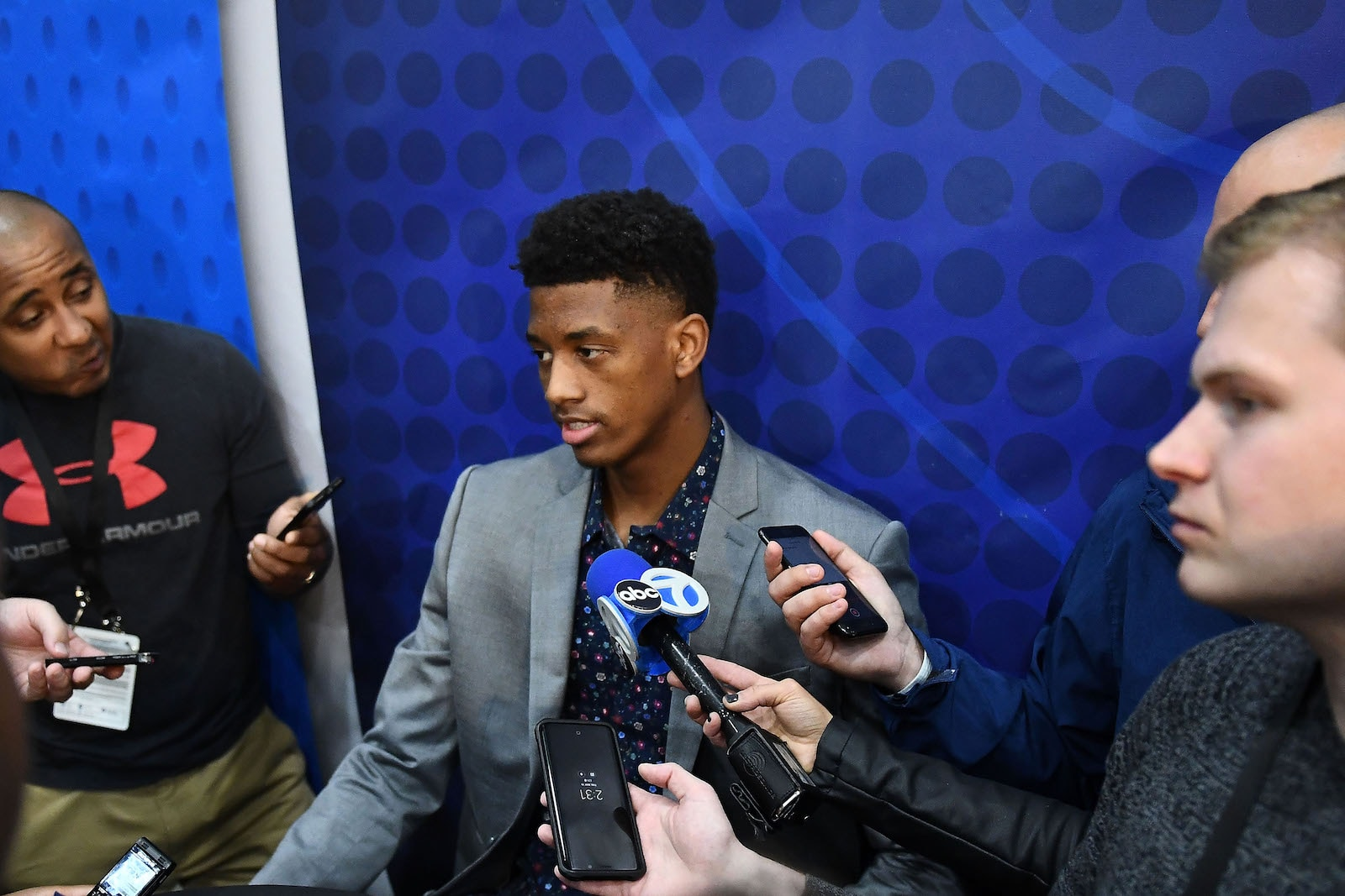 Jarrett Culver speaks with the media during the NBA Draft Combine