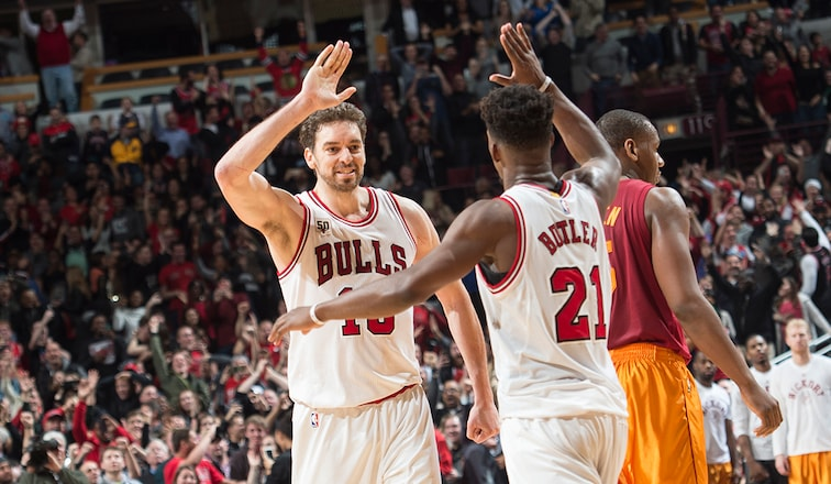 Jimmy Butler and Pau Gasol
