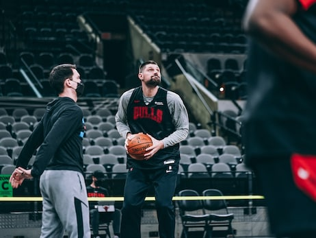 PHOTO GALLERY: New Look Bulls Shootaround Ahead of Spurs Game