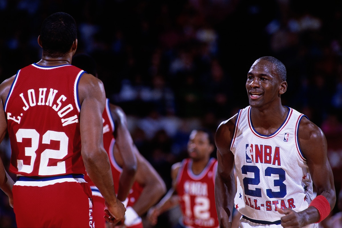 Michael Jordan during the 1988 All Star game