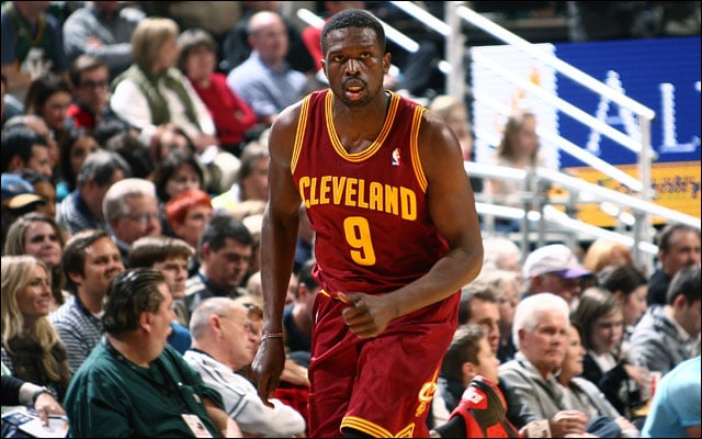 Luol Deng runs the floor with his new team