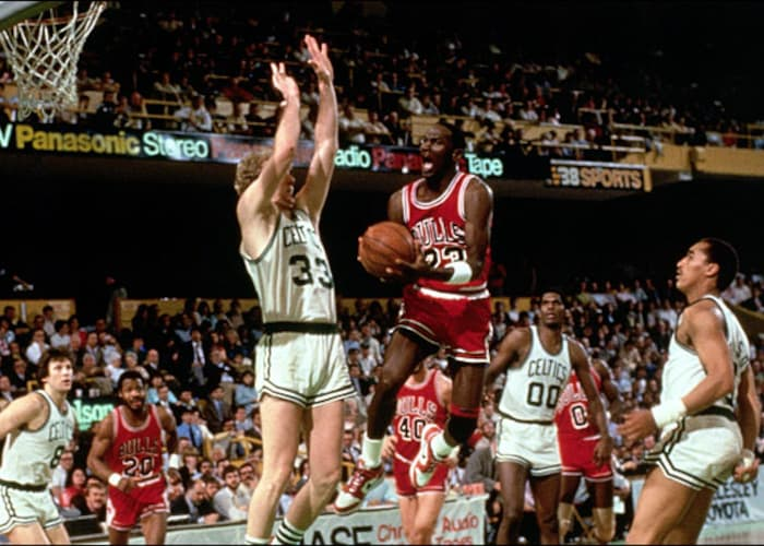 huge selection of 7f0e6 fe6a4 Michael Jordan's 63 points in 1986 NBA Playoffs may have ...