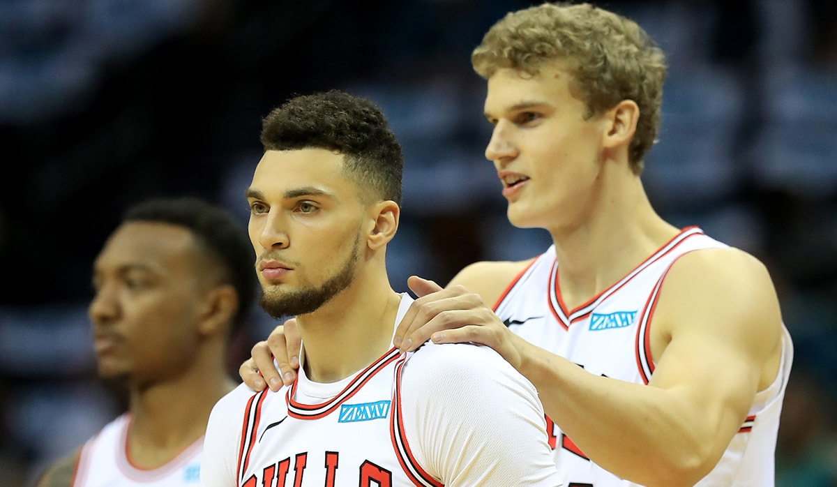 Zach LaVine and Lauri Markkanen