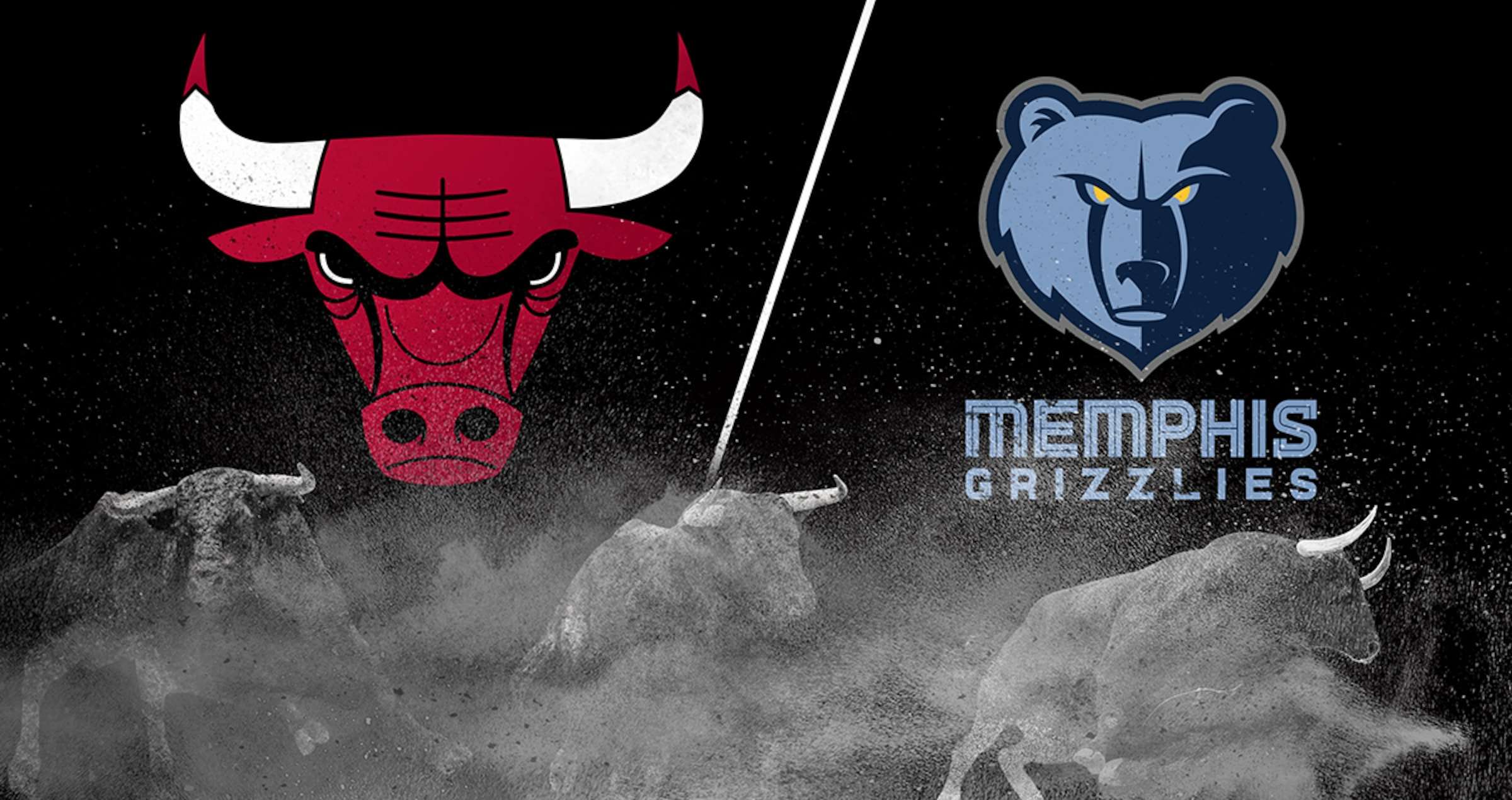 Bulls vs Grizzlies graphic