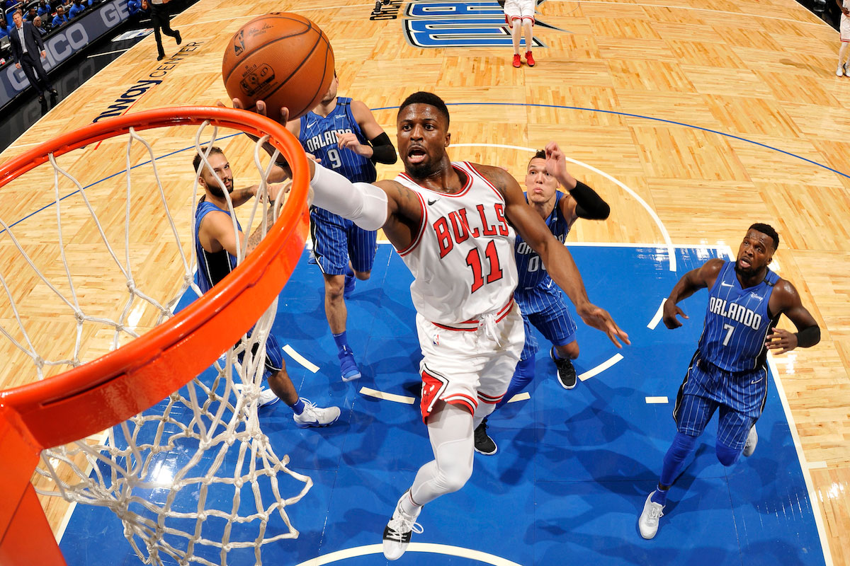 David Nwaba #11 of the Chicago Bulls shoots the ball during the game against the Orlando Magic on November 3, 2017 at Amway Center in Orlando, Florida.