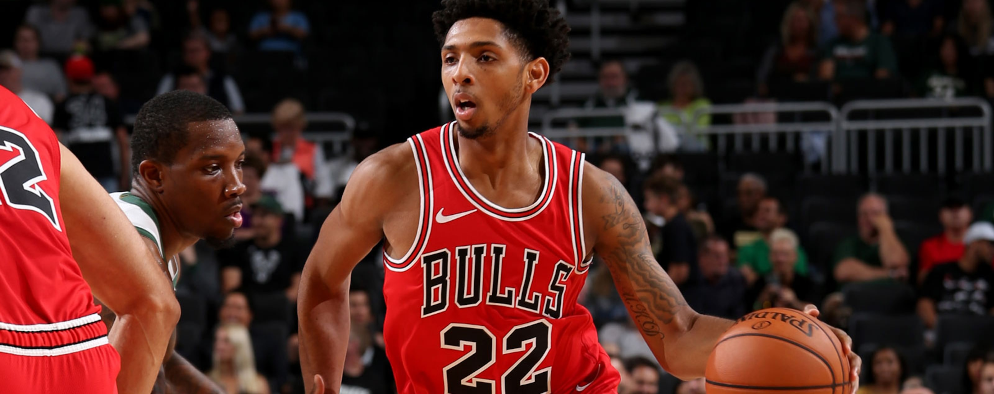 Cameron Payne of the Chicago Bulls dribbles the ball