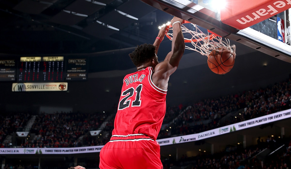 Jimmy Butler: Jimmy Butler double-doubles with 20 & 12