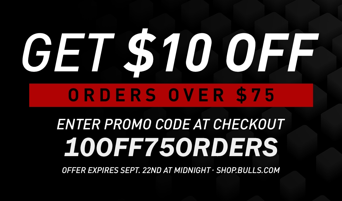 Ad: get $10 off orders over $75 at shop.bulls.com