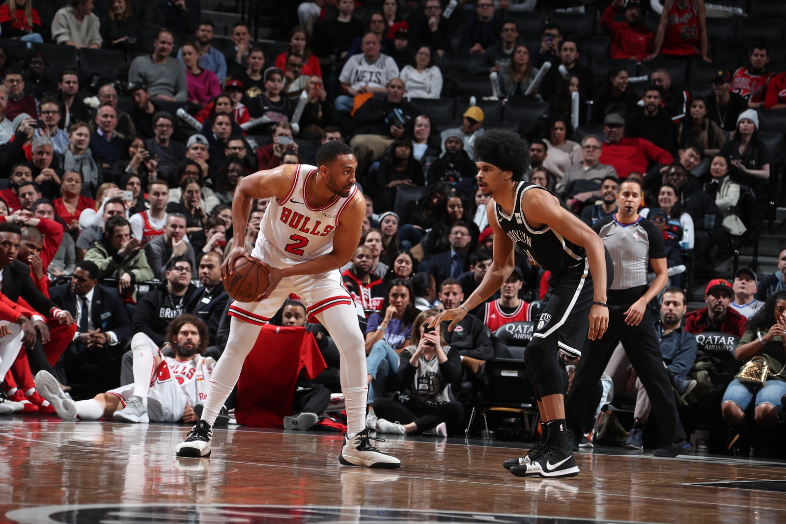 Jabari Parker looks to make an offensive play against the Brooklyn Nets.