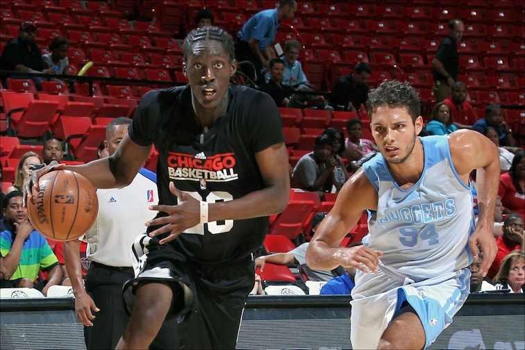 Tony Snell drives to the basket in last year's NBA Summer League