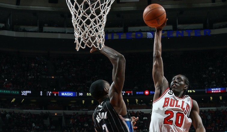 Tony Snell rises up towards the rim against Orlando