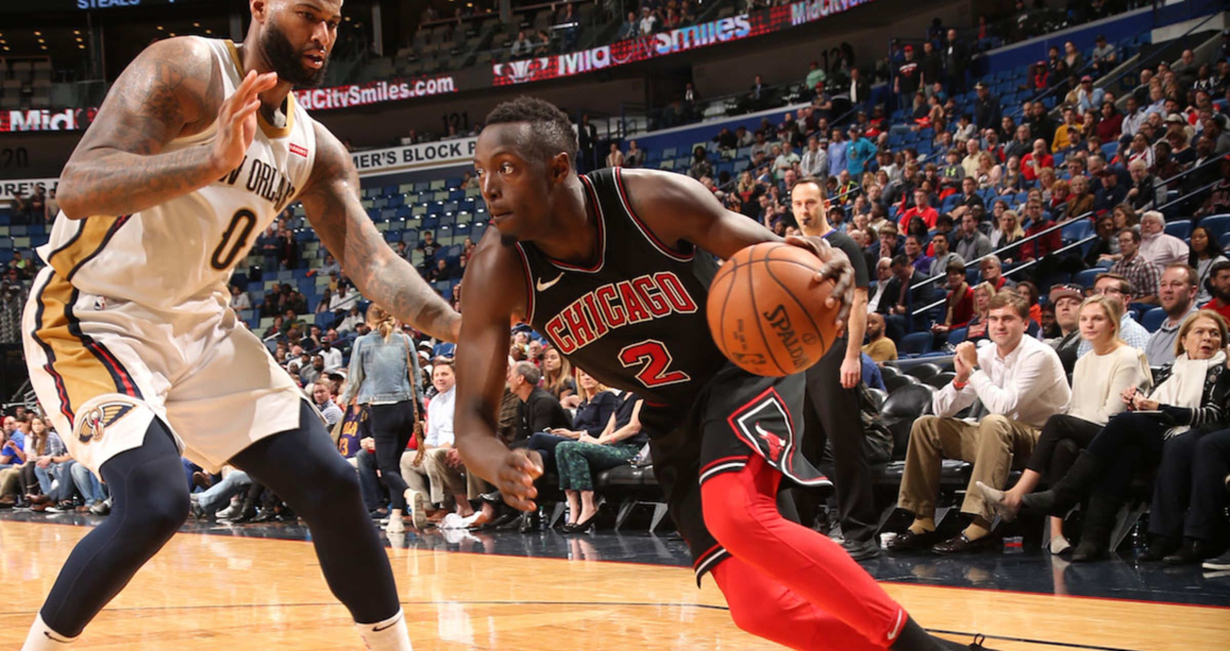 Jerian Grant #2 of the Chicago Bulls handles the ball
