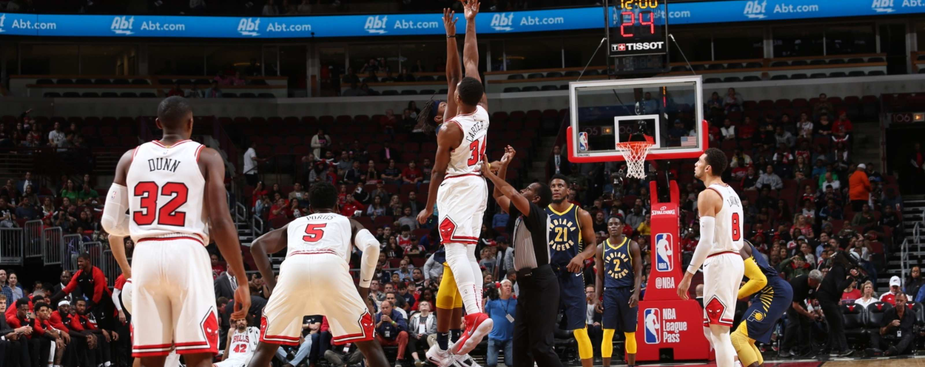 Bulls and Pacers tip-off