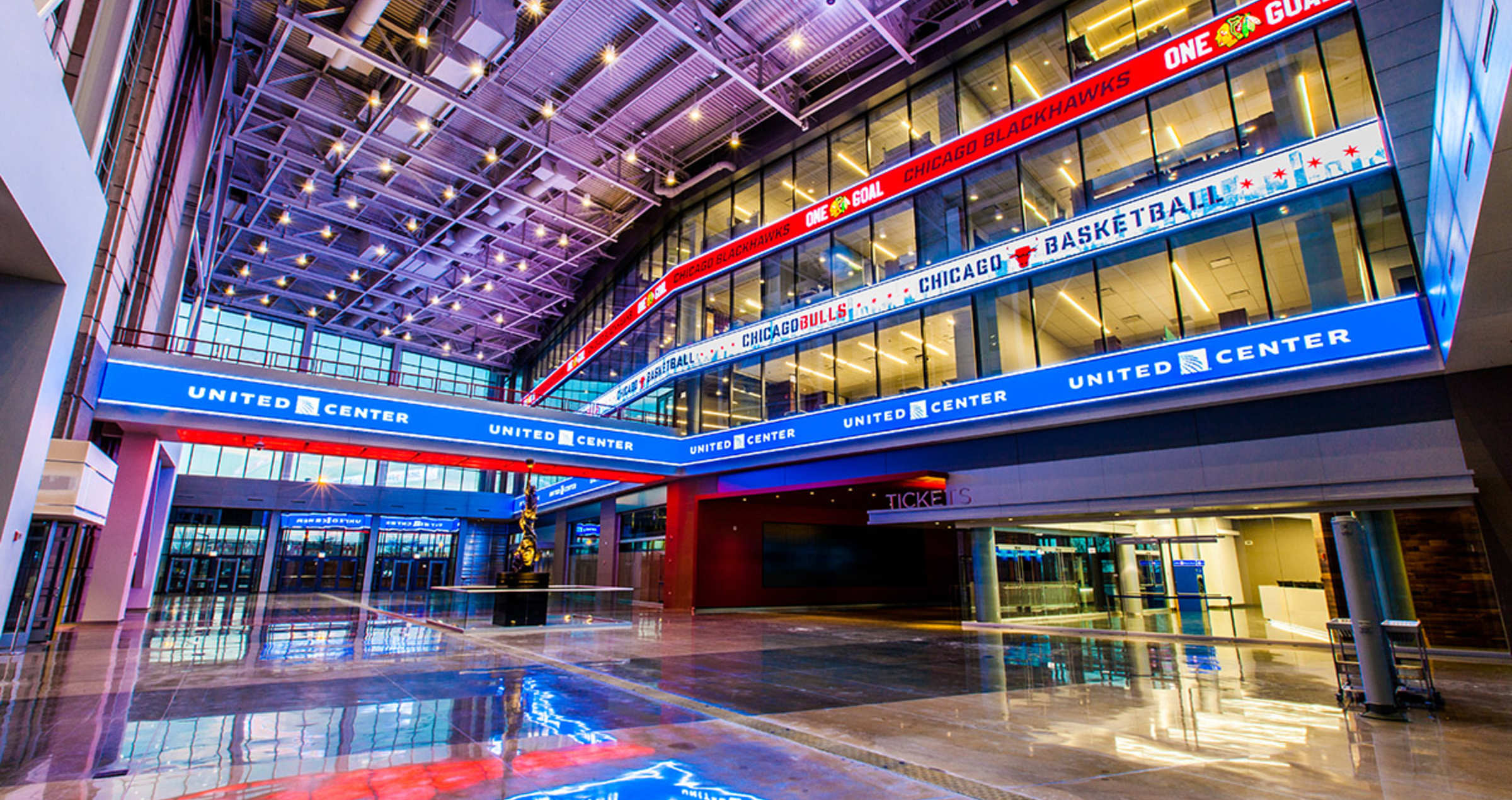 Exterior: United Center Joint Venture Hosts Ribbon Cutting Ceremony