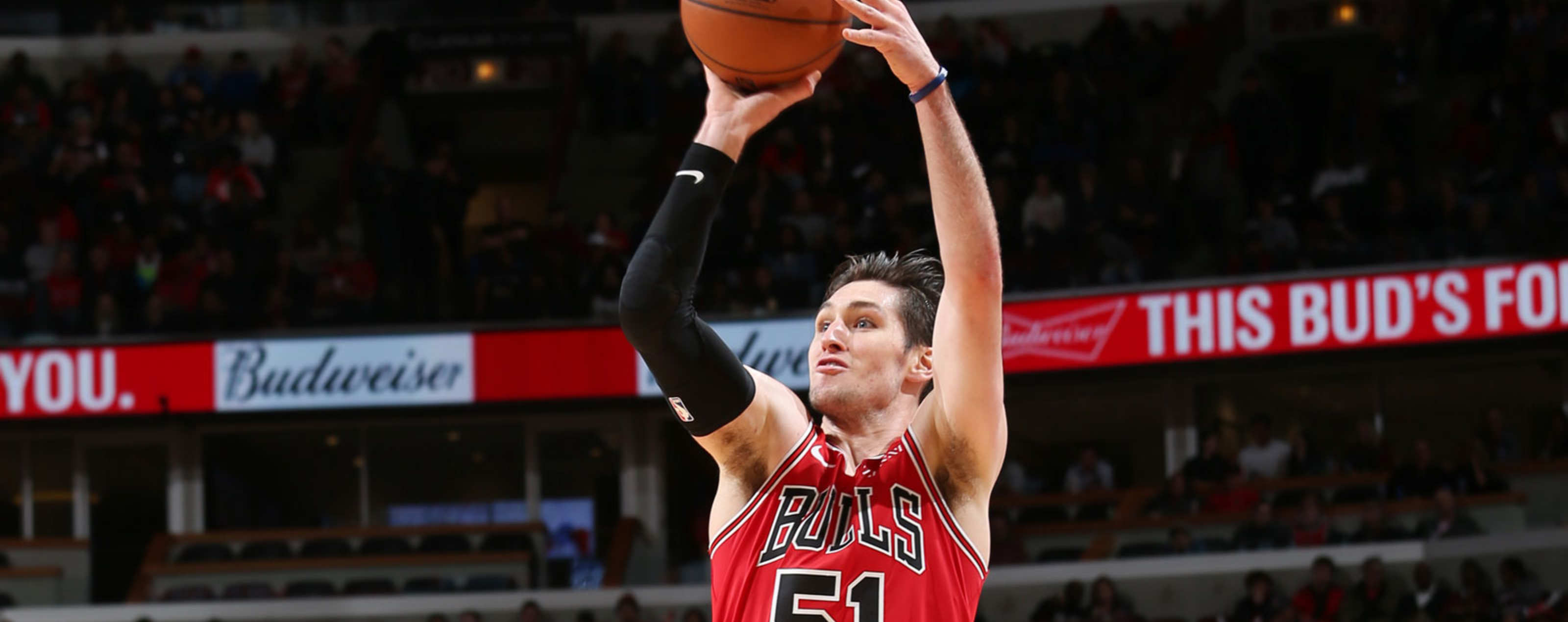 Ryan Arcidiacono 51 of the Chicago Bulls shoots the ball against the  Toronto Raptors on