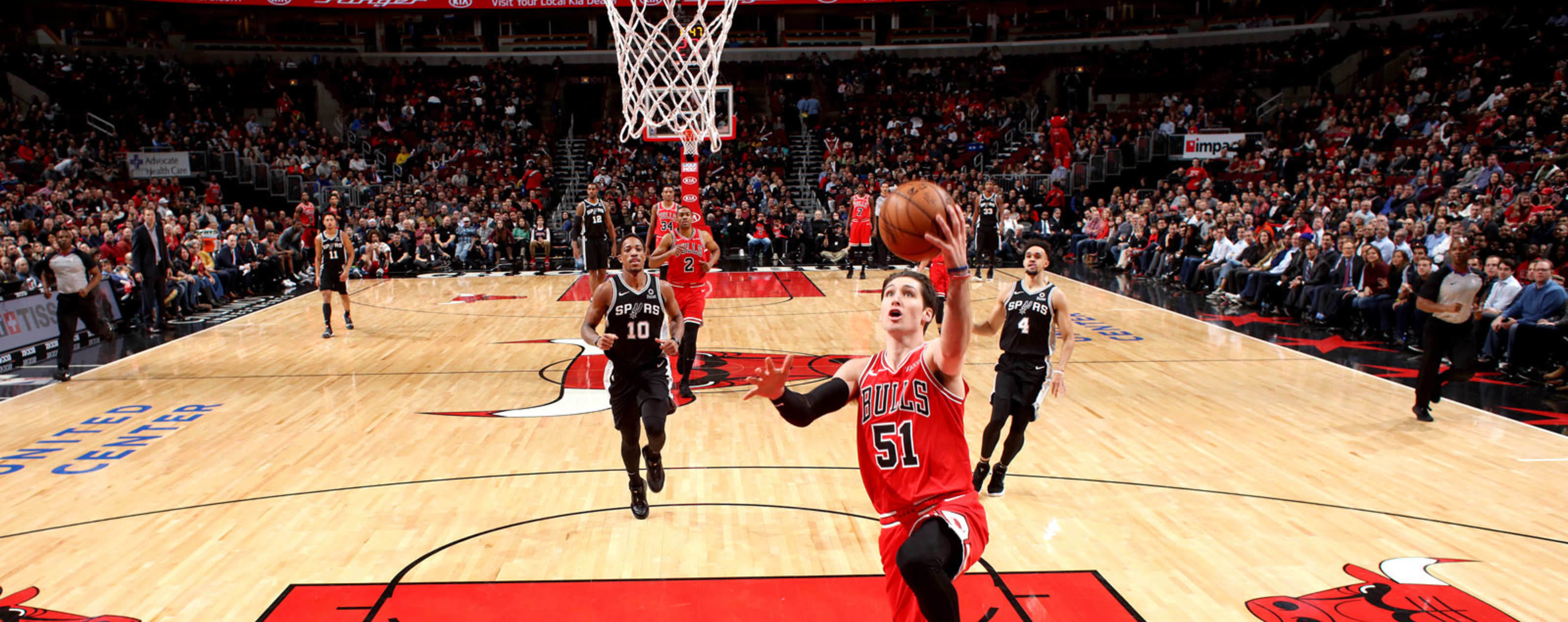 Ryan Arcidiacono #51 of the Chicago Bulls shoots the ball against the San Antonio Spurs on November 26, 2018 at the United Center in Chicago, Illinois.