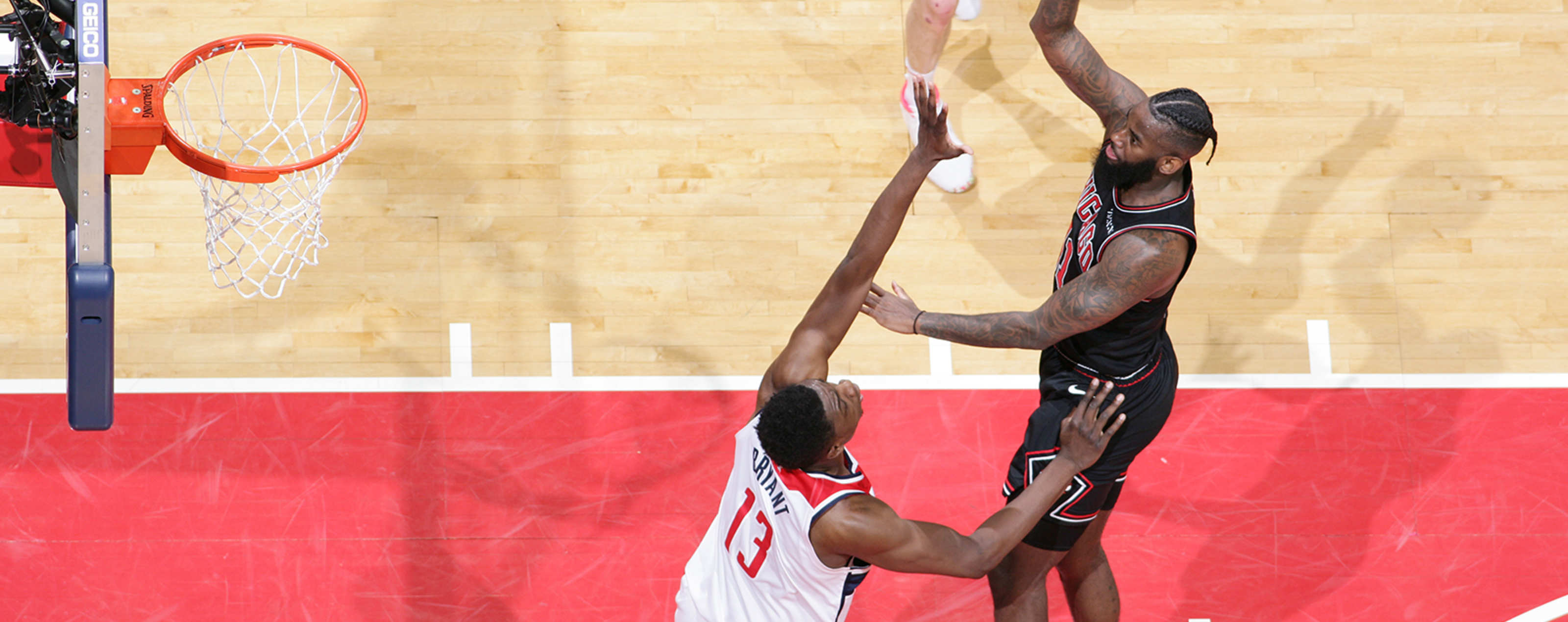 JaKarr Sampson of the Chicago Bulls shoots the ball over the Washington Wizards