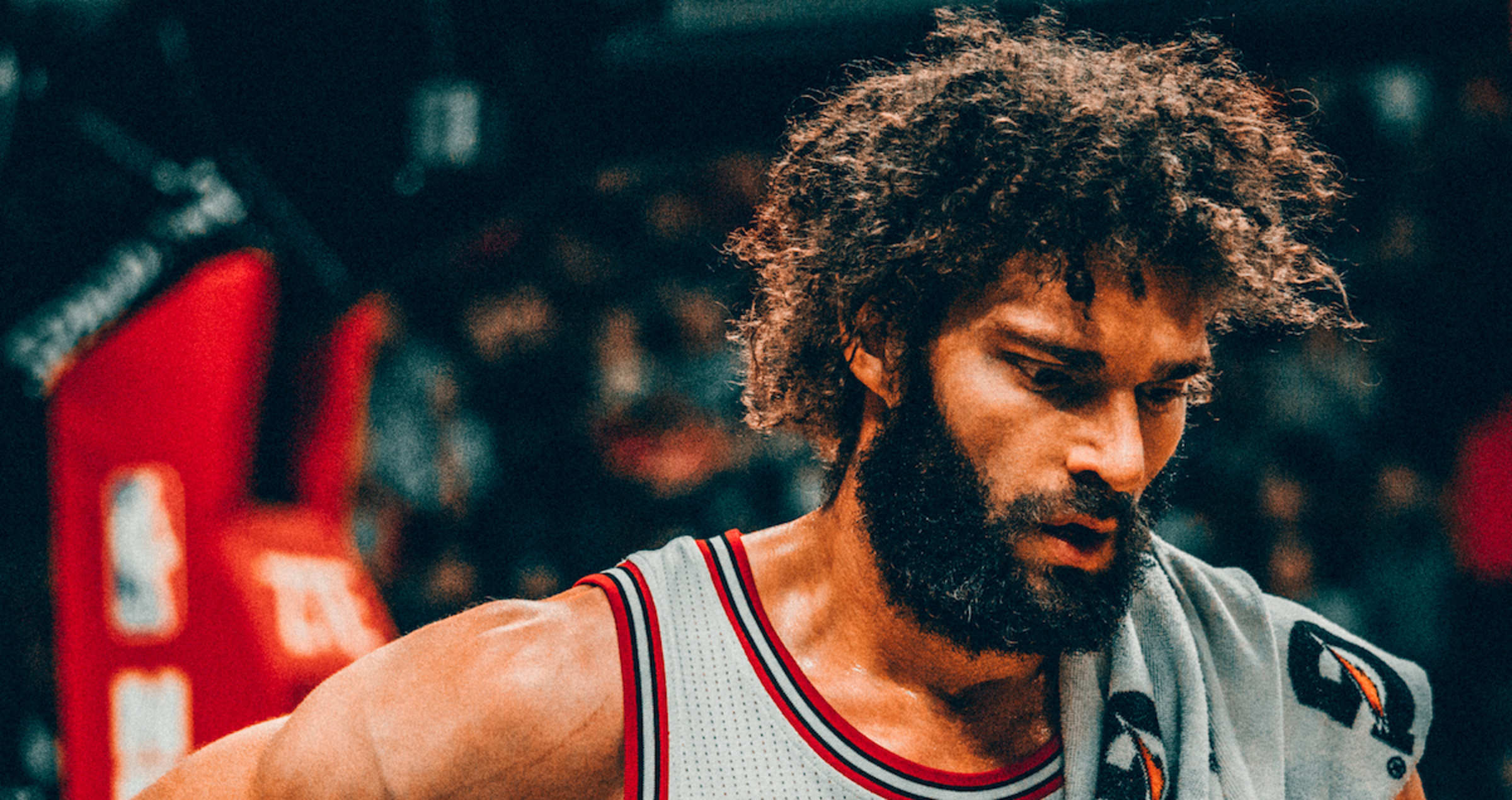 Image result for Picture of Robin Lopez falling