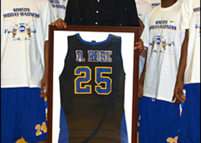 check out d552e 7a82e Simeon Career Academy retires No. 25 worn by Ben Wilson and ...