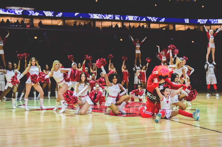The Incredibulls performing at the United Center.