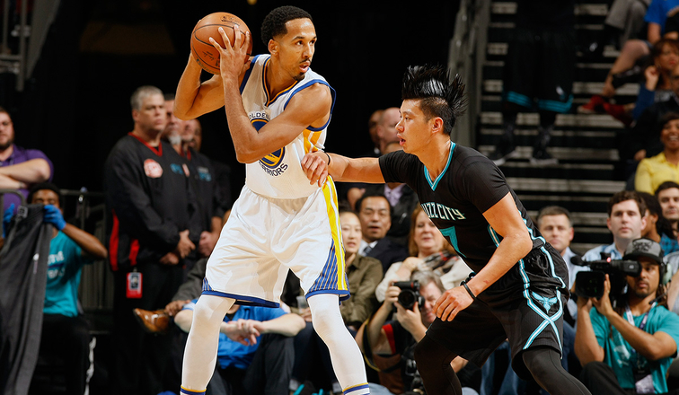 Shaun Livingston and Jeremy Lin