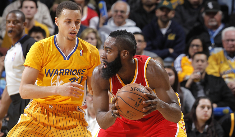 James Harden and Steph Curry