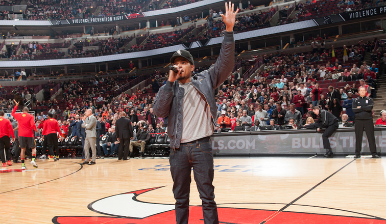 Chance the Rapper at Bulls Sox Violence Prevention Night