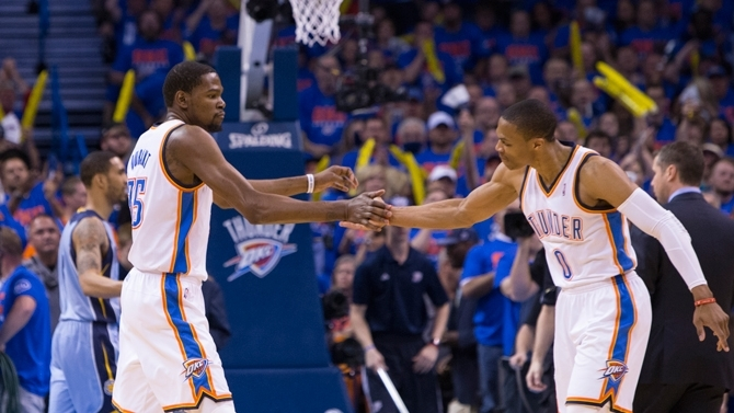 Kevin Durant and Russel Westbrook