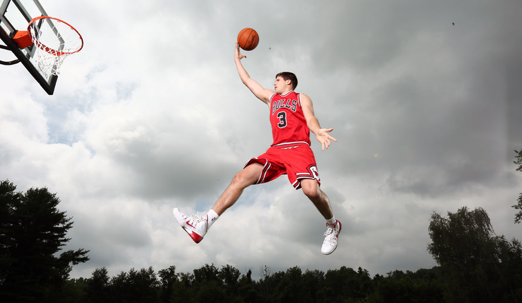 Doug McDermott #3 of the Chicago Bulls poses for a portrait during the 2014 NBA rookie photo shoot on August 3, 2014 at the Madison Square Garden Training Facility in Tarrytown, New York.