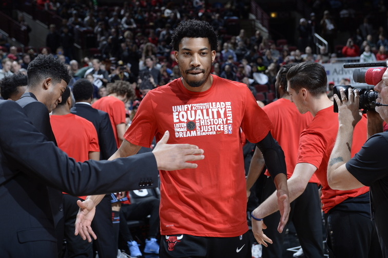 Otto Porter Jr Being Announced as a Starter Before a Bulls Game
