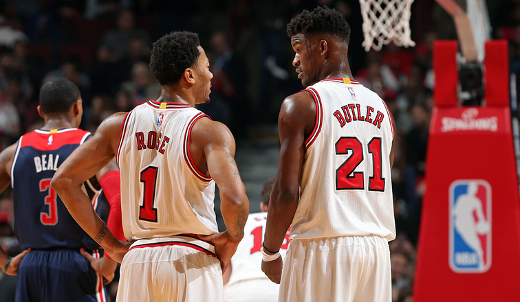 Derrick Rose and Jimmy Butler