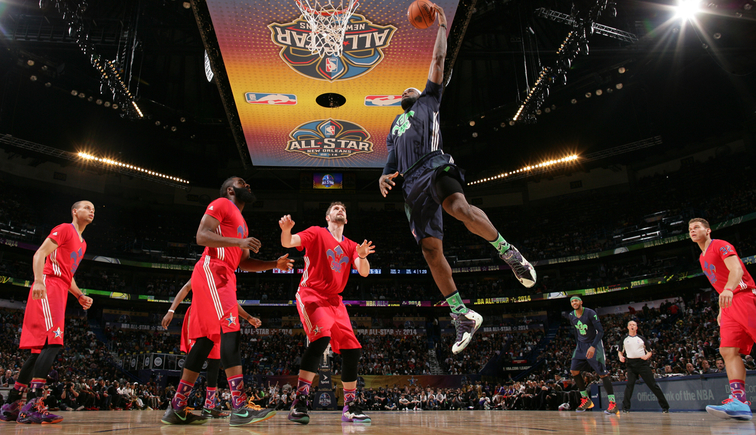 LeBron James during 2014 NBA All-Star game