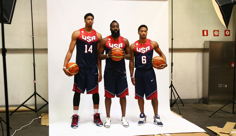 Anthony Davis, James Harden, Derrick Rose