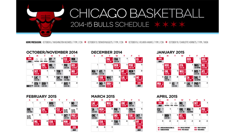 Find New Chicago Bulls Printable Tv Schedule 2014 2015 Review on ...