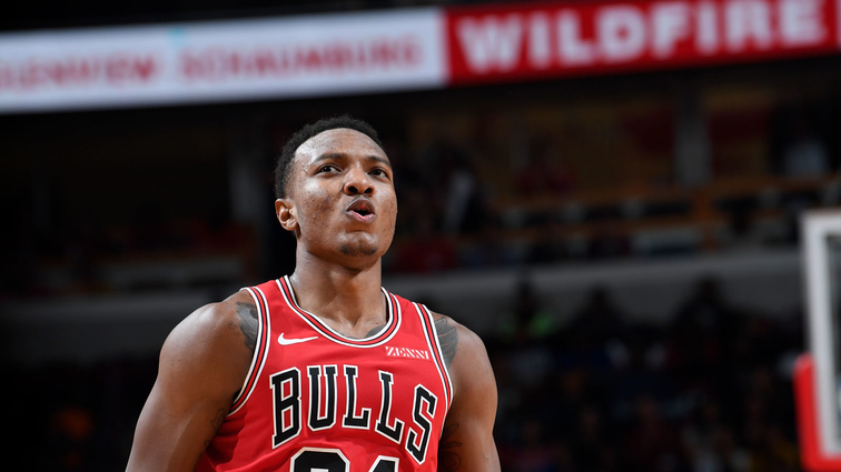 Wendell Carter Jr. reacts after a play in a game against the Denver Nuggets