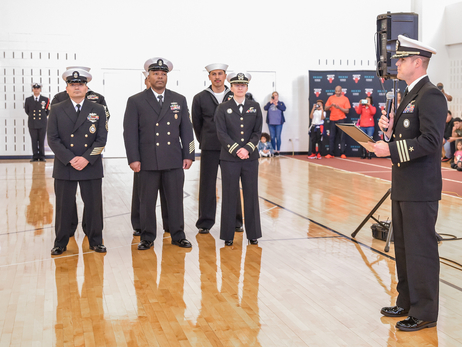 Bulls Host Navy Swearing-In Ceremony