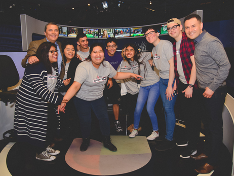 After School Matters students in Kia Sports 37 Program Take Tour of Univision Studio